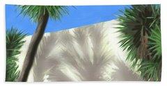 Tropical Shadows Beach Towel