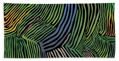 Beach Towel featuring the digital art Tropical Striations by Kevin McLaughlin