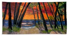 Tropical Sunset Beach Towel