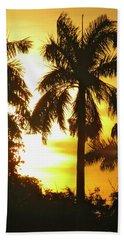 Tropical Sunset Palm Beach Towel