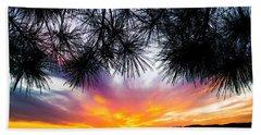Tropical Sunset  Beach Sheet by Parker Cunningham