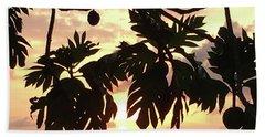 Beach Sheet featuring the photograph Tropical Sunset Silhouette by Karen Nicholson