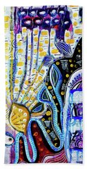 Beach Towel featuring the mixed media Tropical Waters by Mimulux patricia No