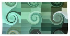 Tropical Wave Swirls Abstract Beach Towel