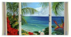 Tropical Window Beach Towel