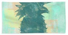 Tropicalifornia, Sponge Painted Abstract Tropical Pineapple Beach Towel
