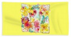 Beach Sheet featuring the digital art Tropicana Abstract By Kaye Menner by Kaye Menner