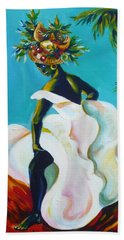 Beach Towel featuring the painting Tropicana by Anna  Duyunova
