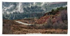 Beach Towel featuring the photograph Trossachs National Park In Scotland by Jeremy Lavender Photography
