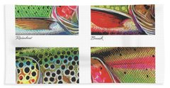 Trout Colors Beach Towel