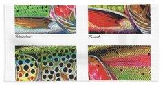 Trout Colors Beach Towel