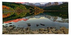 Beach Sheet featuring the photograph Trout Lake Reflections - Colorado - Rocky Mountains by Jason Politte
