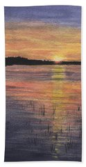 Trout Lake Sunset II Beach Towel