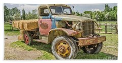 Beach Towel featuring the photograph Truck Of Many Colors by Sue Smith