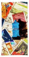 True Blue Postbox Beach Towel