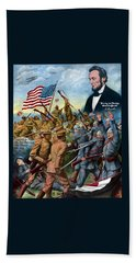 True Sons Of Freedom -- Ww1 Propaganda Beach Towel by War Is Hell Store