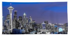 Beach Sheet featuring the photograph True To The Blue In Seattle by Ken Stanback