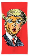 Trump Beach Towel by Robert Yaeger