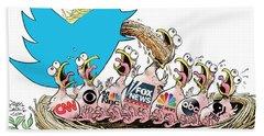 Trump Twitter And Tv News Beach Sheet