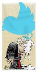 Trump Twitter Poop Beach Sheet