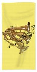 Trumpet Fanfare Beach Towel