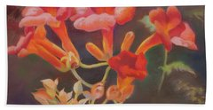 Trumpet Flowers Beach Towel