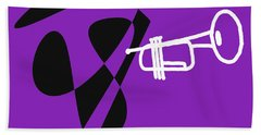 Trumpet In Purple Beach Sheet