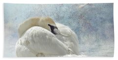 Trumpeter Textures #1 - Swan Feather Beach Towel