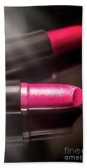 Tubes Of Coloruful Pink Lipsticks Beach Towel