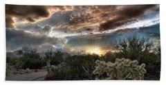 Tucson Mountain Sunset Beach Towel