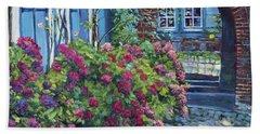Tudor Hydrangea Garden Beach Towel