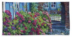 Tudor Hydrangea Garden Beach Sheet