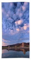 Tufa Sunrise Beach Towel by Sean Sarsfield