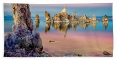 Tufas At Mono Lake Beach Towel