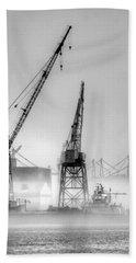 Tug With Cranes Beach Sheet