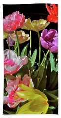 Beach Towel featuring the photograph Tulip 8 by Pamela Cooper