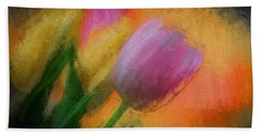 Tulip Abstraction Beach Towel