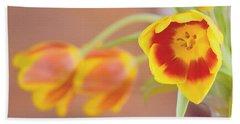 Tulip Beauty Beach Towel by Deborah  Crew-Johnson