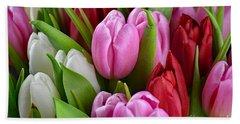 Tulip Bouquet Beach Sheet