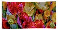Tulip Bouquet Beach Towel by Sandy Moulder