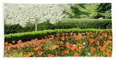 Beach Towel featuring the photograph Tulip Cafe by Diana Angstadt