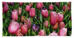 Tulip Flowers  Beach Towel