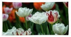 Tulip Flowers Beach Sheet