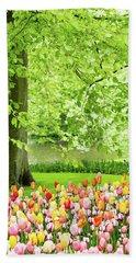 Tulip Garden - Amsterdam Beach Sheet