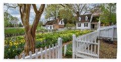 Tulip Garden Colonial Williamsburg  Beach Sheet