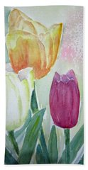 Tulips  Beach Sheet by Elvira Ingram