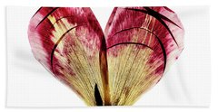Tulip Heart Beach Towel