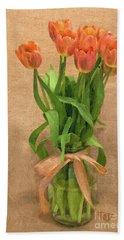 Tulip Impasto Beach Towel