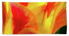 Tulip In Bloom Beach Sheet