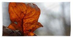 Tulip Leaf  Beach Sheet by Jane Ford